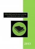 Didactitiel pour la mise en page sous Word de votre livre