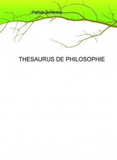 THESAURUS DE PHILOSOPHIE