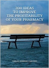 Libro 200 IDEAS TO IMPROVE THE PROFITABILITY OF YOUR PHARMACY, autor CARLOS HERRERO CARCEDO